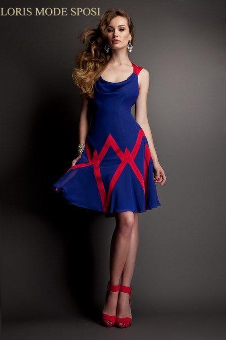 Estremamente Abito blu elettrico donna moderna - Fashion touch italy QN94