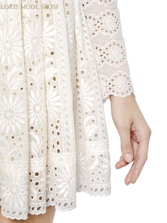 e116c7938bad Pizzo sangallo per gli abiti eleganti da cerimonia - Loris Mode Sposi