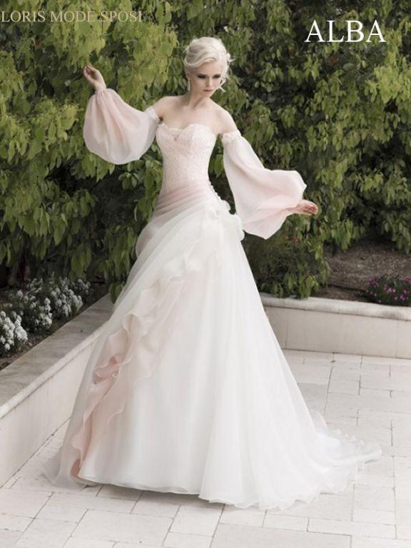 Extrêmement Gli abiti da sposa colorati secondo le tendenze bridal 2016  ZK96