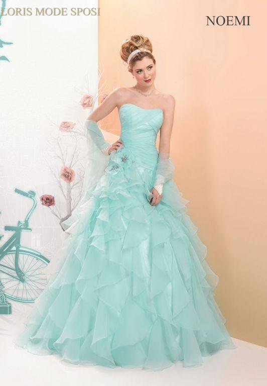 Vestiti Da Sposa Tiffany.Il Verde Blu Tiffany Nel 2016 Loris Mode Sposi